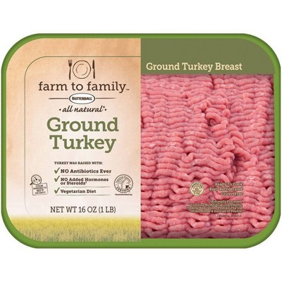 Butterball Farm to Family Ground Turkey Breast - 16oz