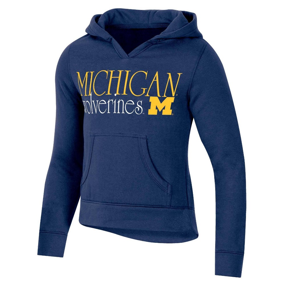 Ncaa Michigan Wolverines Girls 39 Split Neck Hoodie Xs