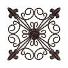 "8"" Square Medallion Metal Wall Art Black Espresso - Lavish Home - image 2 of 3"