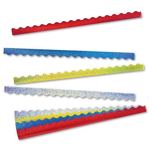 Bulletin Border Trim Pack Red Yellow Blue Silver Trend - image 1 of 1