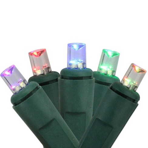 J. Hofert Co 50ct Wide Angle LED Color Changing Battery Operated String Lights  - 11.3' Green Wire - image 1 of 2