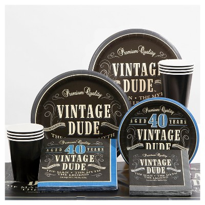 40th Birthday Vintage Dude Party Supplies Collection Target