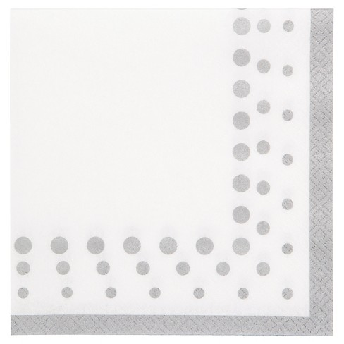 Sparkle and Shine Silver Napkins, 16 pk - image 1 of 2