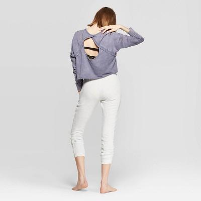 Women's Open Back Lounge Sleep Sweatshirt   Colsie by Colsie