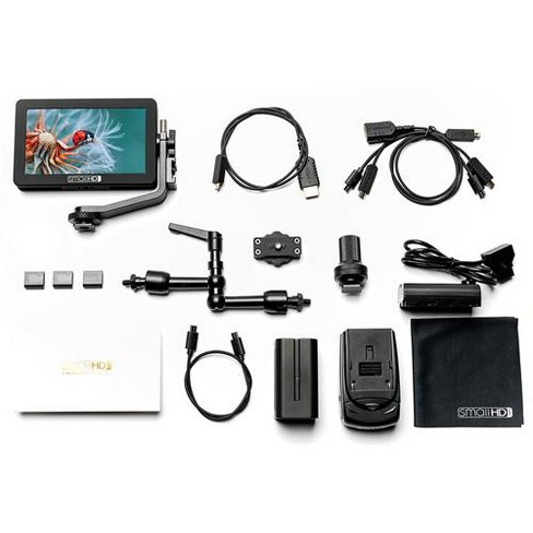 SmallHD FOCUS 5  IPS Touchscreen Daylight Visibility 720p On-Camera LED Monitor Cine Kit - image 1 of 4