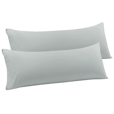 2 Pcs Body Microfiber with Envelope Closure Pillowcase Light Grey - PiccoCasa