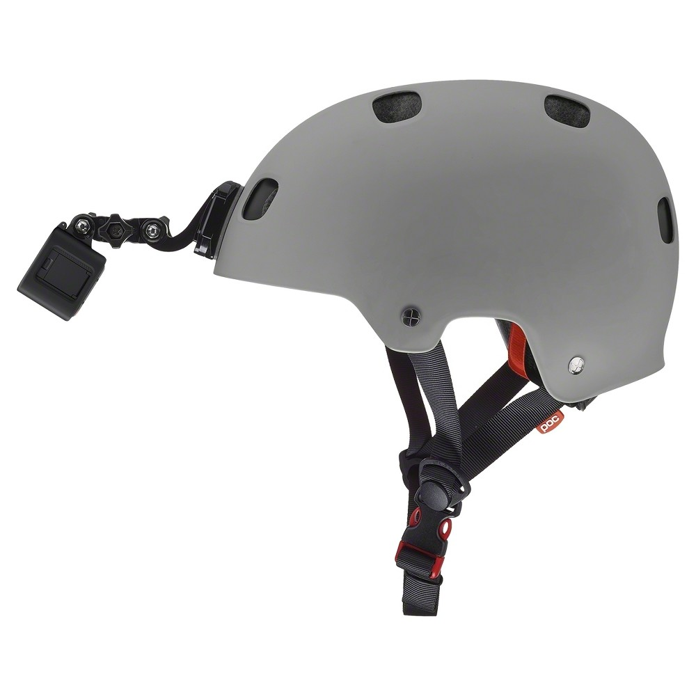 GoPro Helmet Front Mount, Camera Mounts and Tripods You'll be able to catch all the action up close with a helmet with front camera mount by GoPro. Attach your camera and tape your goals as you score them, or make memorable videos of your kids as you skate with them around the rink. Mount has secure fasteners on top and bottom to ensure your camera stays attached.