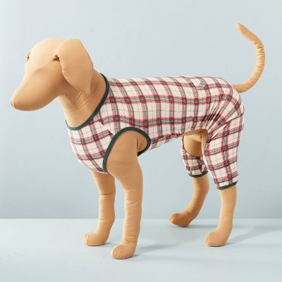 Holiday Plaid Pet PJ Red/Green - Hearth & Hand™ with Magnolia