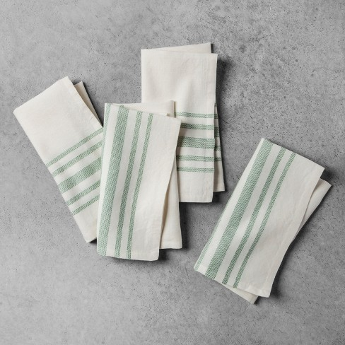 Striped Napkin 4pk - Green - Hearth & Hand™ with Magnolia - image 1 of 4