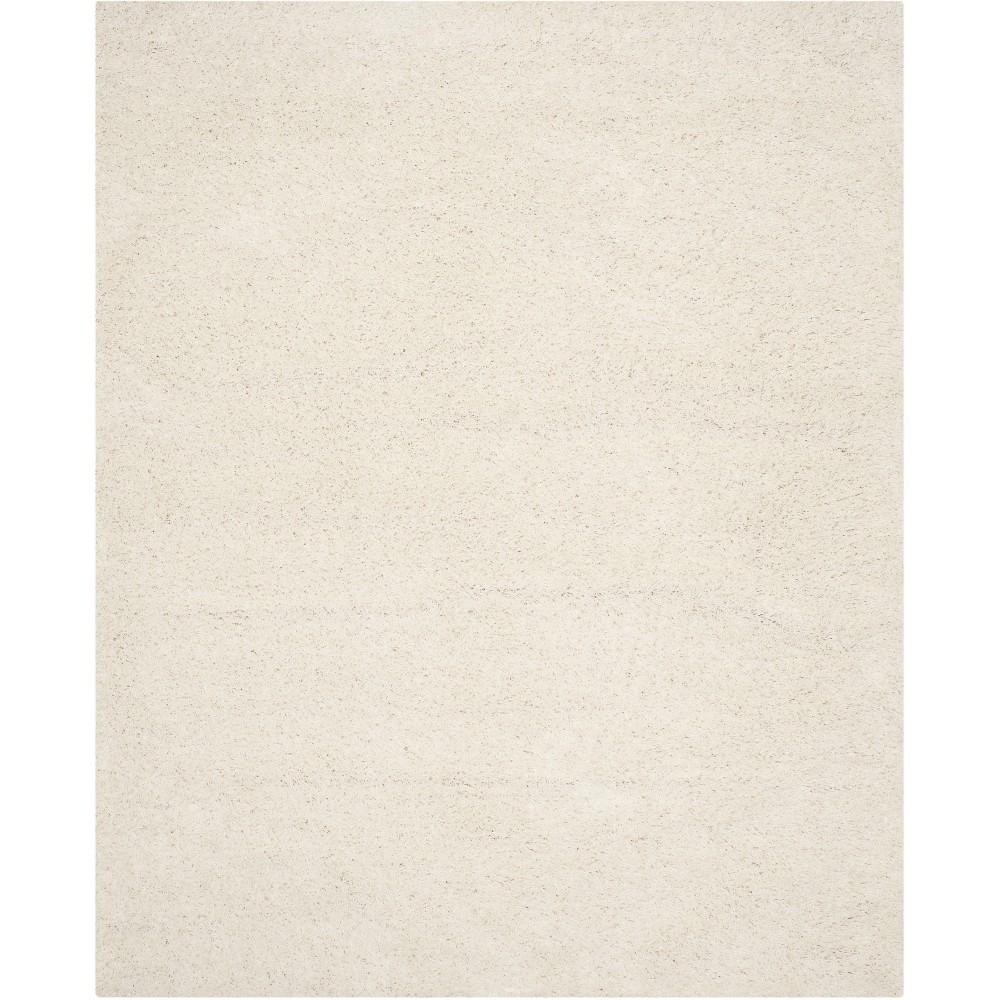 8'X10' Solid Loomed Area Rug Light Gray - Safavieh, White