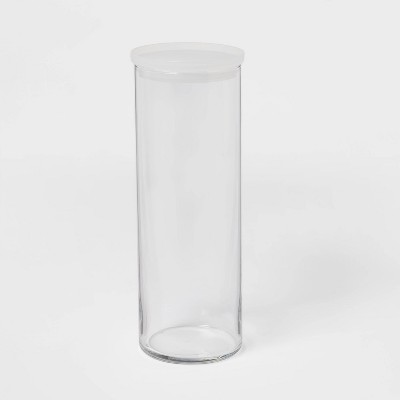 55.8oz Glass X-Large Stackable Jar with Plastic Lid - Made By Design™