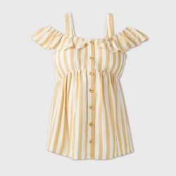 Maternity Striped Sleeveless Button-Front Woven Top - Isabel Maternity by Ingrid & Isabel™ Yellow