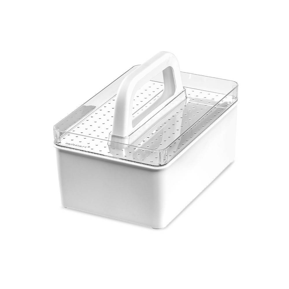 Image of Handle Bin Clear/White - Madesmart