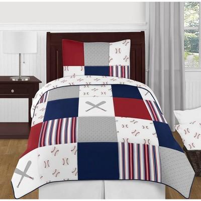4pc Baseball Patch Twin Bedding - Sweet Jojo Designs