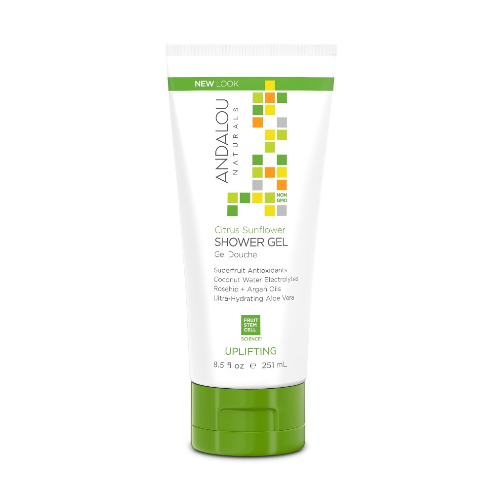 Andalou Naturals Verbena Uplifting Shower Gel - Citrus - 8.5 oz