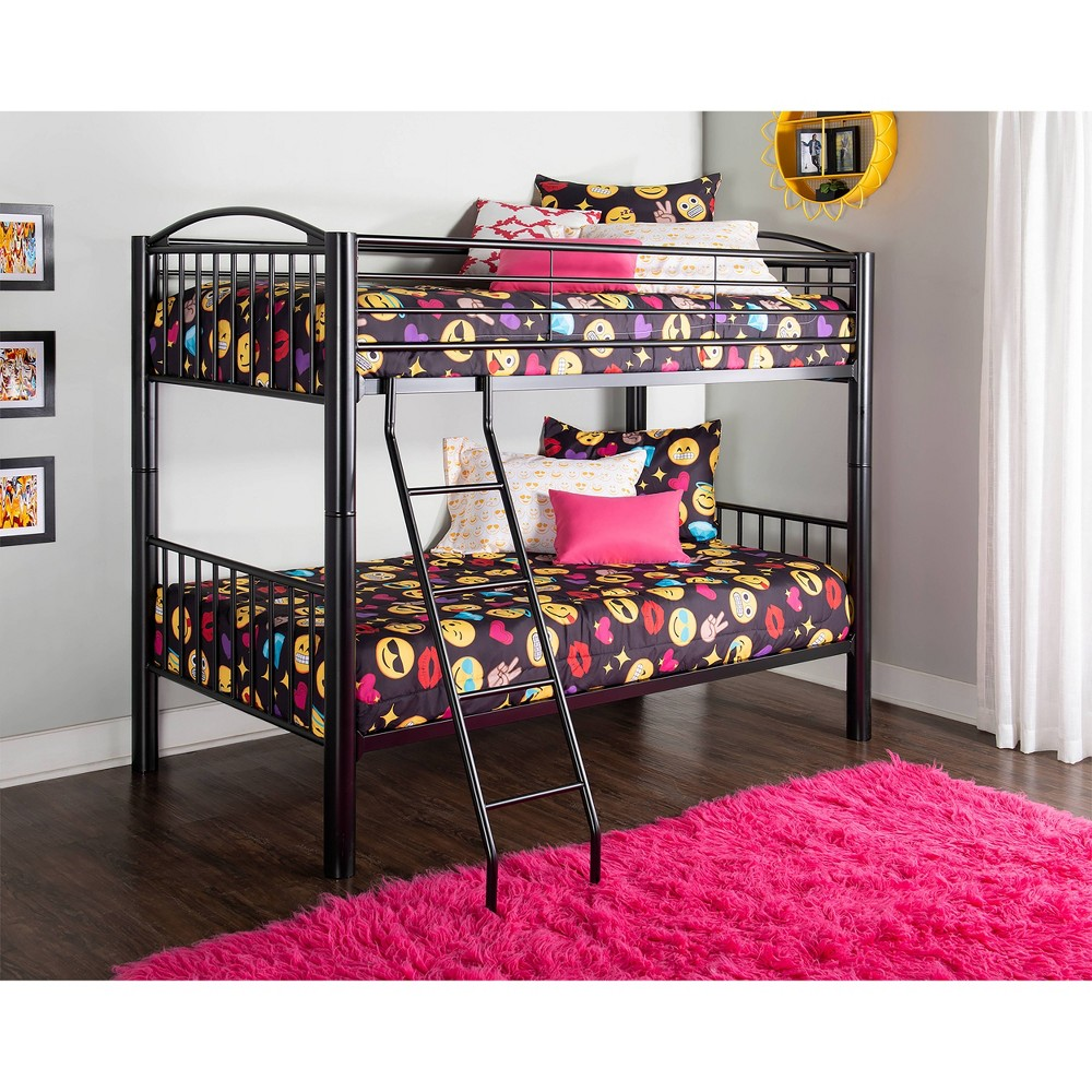 Aiden Twin Over Twin Bunk Bed Black Powell Company