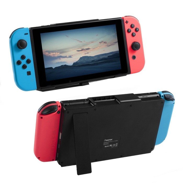Insten Portable 10000mAh Backup Case Charger Power Bank W/Stand For Nintendo Switch - Black : Target
