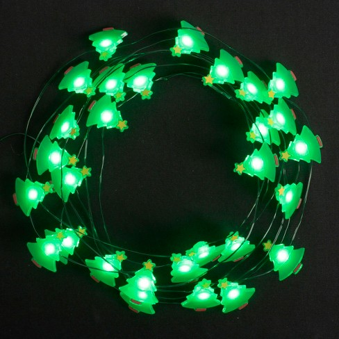 philips 30ct christmas battery operated led green tree dewdrop fairy string lights green target