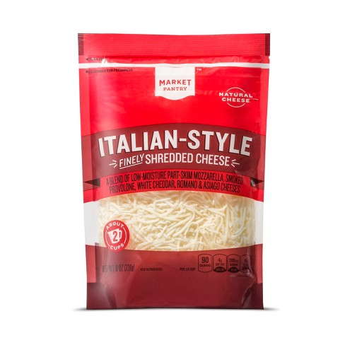 Shredded Italian Style Six Cheese Blend - 8oz - Market Pantry™ - image 1 of 1