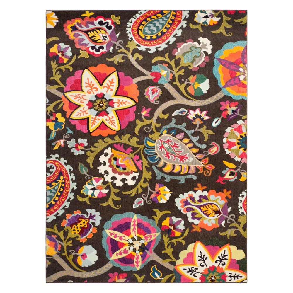 10'X14' Paisley Area Rug Brown - Safavieh, Brown/Multi-Colored