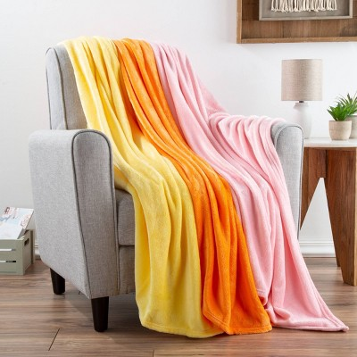 "3pk 60""x50"" Fleece Throw Blanket - Yorkshire Home"