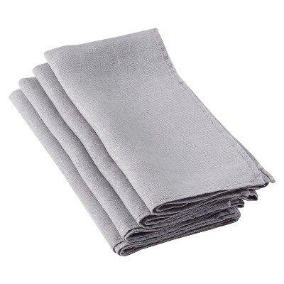 Ruffled Design Napkins Fog (Set of 4)