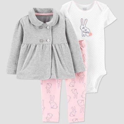 Baby Girls' South Bunny Top & Bottom Set - Just One You® made by carter's Pink 3M