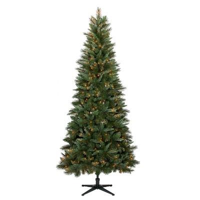 7.5ft Prelit Artificial Christmas Tree Douglas Fir Clear Lights - Wondershop™