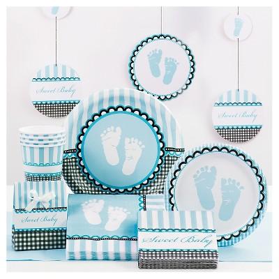 10ct Baby Shower Blue Straws
