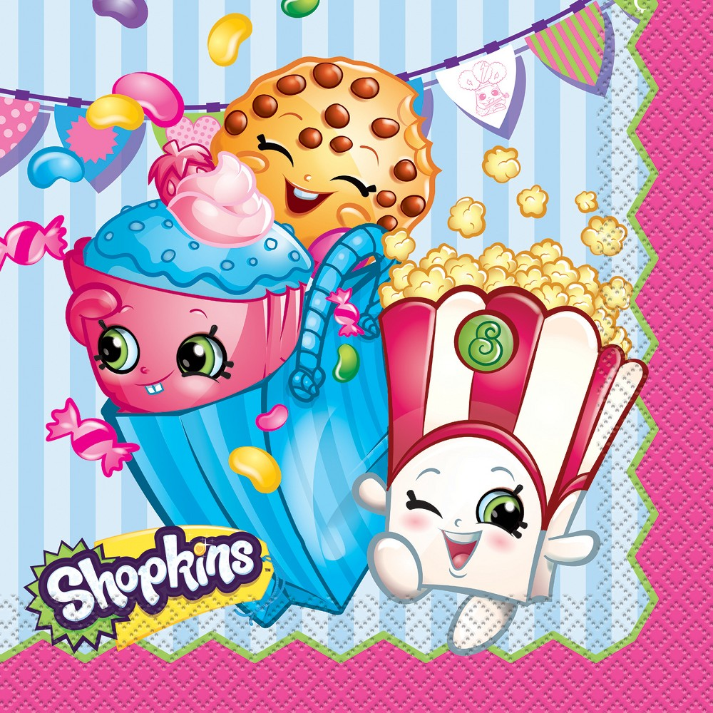 Image of 16 ct Shopkins Napkin