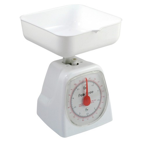 Peachtree Brand Digital Kitchen Scale White