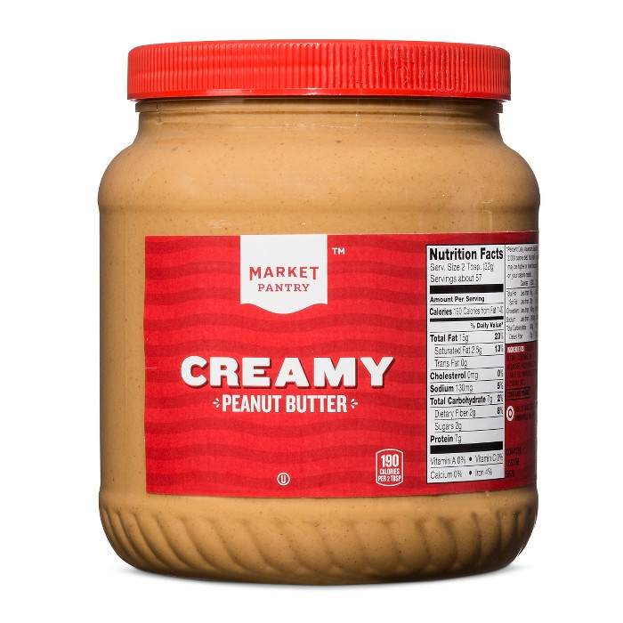 Creamy Peanut Butter - 64oz - Market Pantry™ - image 1 of 1