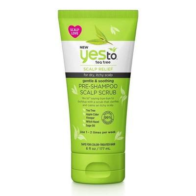 Yes To Tea Tree Gentle & Soothing Pre-Shampoo Scalp Scrub - 6 fl oz