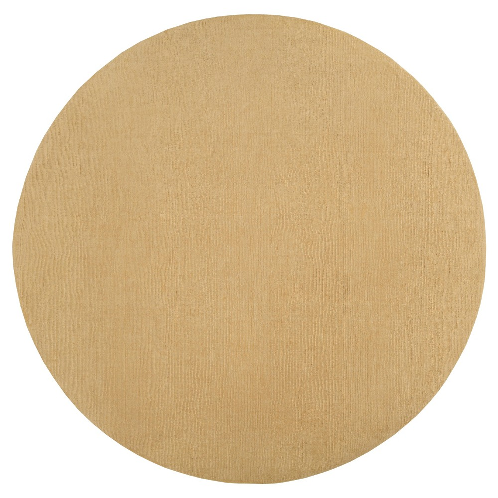 Khaki (Green) Solid Loomed Round Area Rug - (10' Round) - Surya
