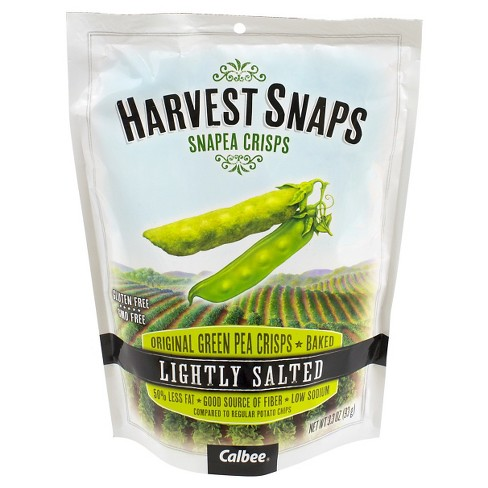 Harvest Snaps Lightly Salted Baked Green Pea Crisps - 3.3oz / 3ct - image 1 of 1