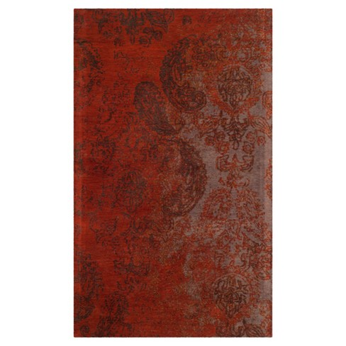 Rust Brown Damask Loomed Accent Rug 3 X5 Safavieh Target