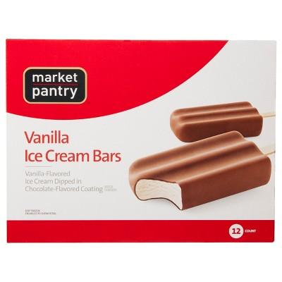 Vanilla Ice Cream Bars - 12pk - Market Pantry™