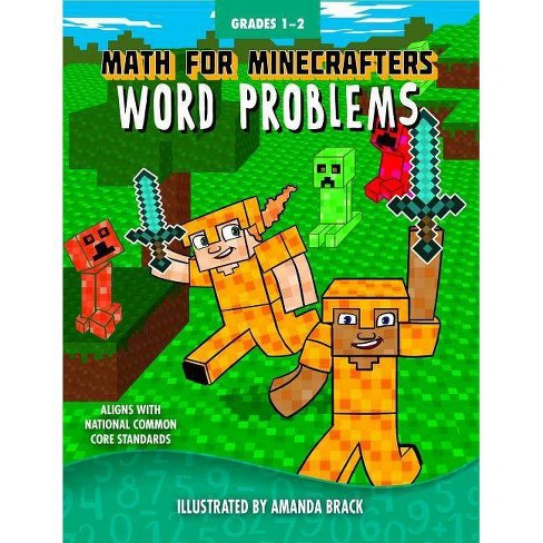 Math for Minecrafters Word Problems: Grades 1-2 - (Paperback) - image 1 of 1
