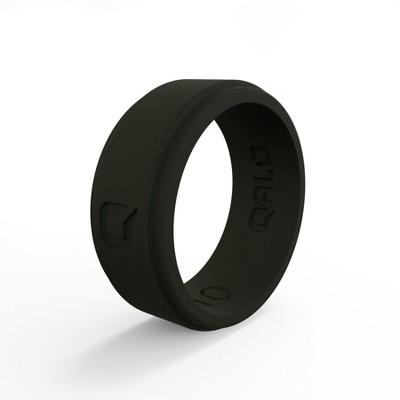 Qalo Standard Men's Black Flat Step Q2X Ring