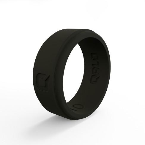 Qalo Standard Men's Black Flat Step Q2X Ring - image 1 of 4