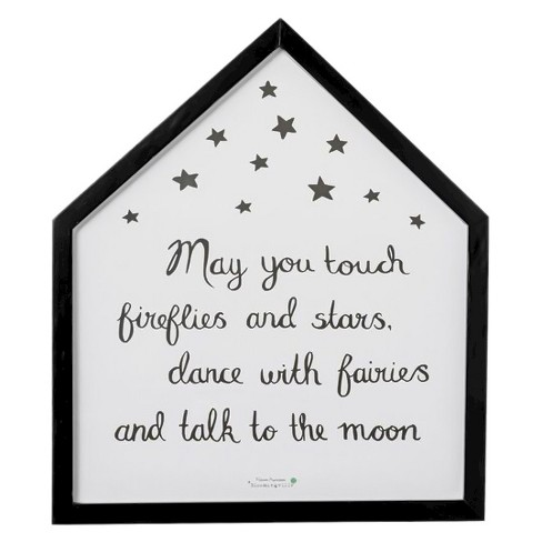 "Wood Framed Wall Décor ""May You Touch Fireflies"" - 3R Studios - image 1 of 1"