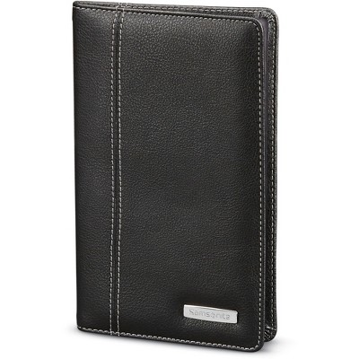 "Samsonite Business Card Holder 72-Card 1/2""Wx5""Lx8""H Black 440951041"