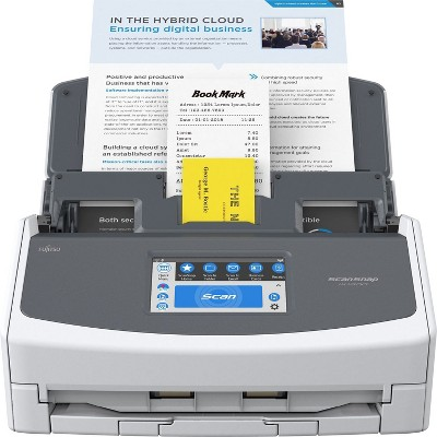 Fujitsu ScanSnap iX1600 Versatile Cloud Enabled Document Scanner for Mac and PC, White (PA03770-B615)