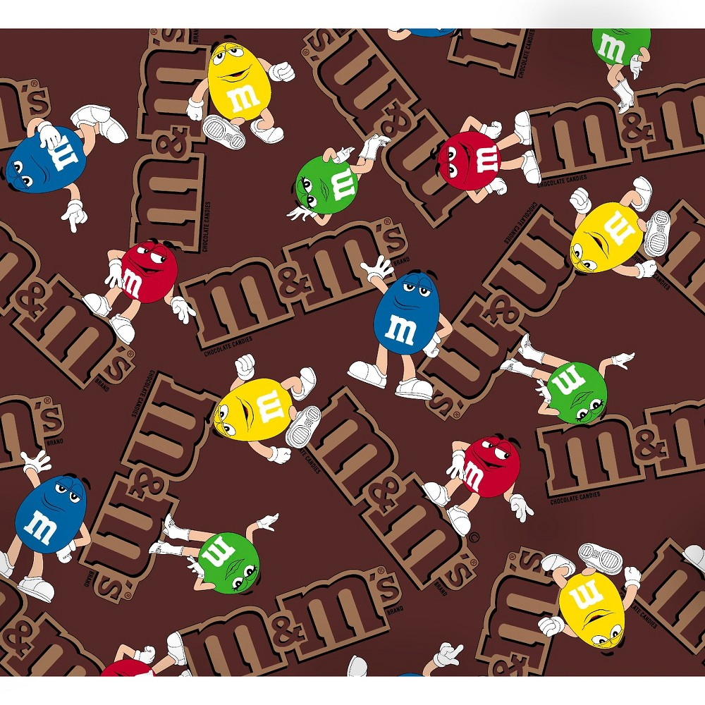 Mars M&M's Logo, Brown, 100% Cotton, 43/44 Width, Fabric by the Yard