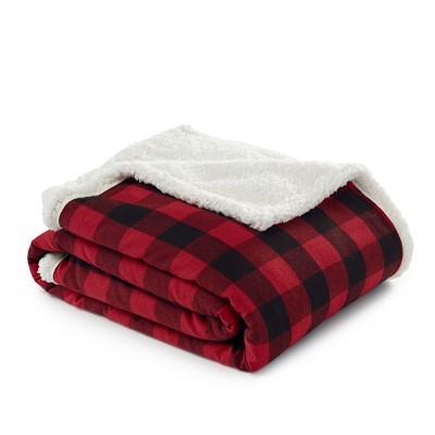 Throw Blankets Eddie Bauer 50X60  Inches Black/ White