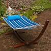 Algoma Sunbrella Quilted Hammock Reversible 13' - Token Surfside Stripe/Canvas Blue - image 2 of 4