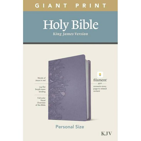 KJV Personal Size Giant Print Bible, Filament Enabled Edition (Leatherlike, Peony Lavender) - Large Print (Leather Bound) - image 1 of 1