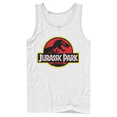 Men's Jurassic Park T Rex Logo Tank Top