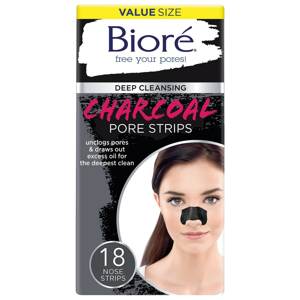 Biore Charcoal Pore Strips 18 ct