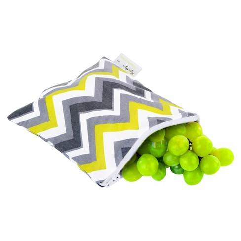 Itzy Ritzy Snack Happens-Sunshine Chevron - Yellow/Gray - image 1 of 1